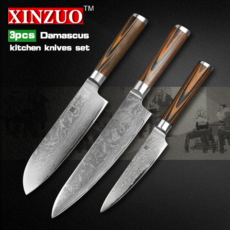 aliexpress com buy 3 pcs kitchen knives set 73 layer new products kitchen gadget metal kitchen knife set buy