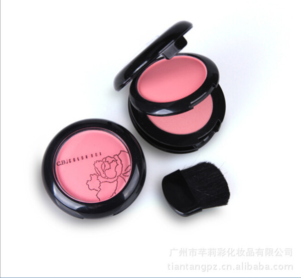 Double Color Makeup Blush Face Blusher Powder Palette Cosmetics Free Shipping Professional Makeup Product(China (Mainland))