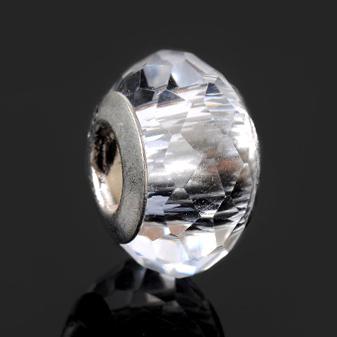 925 Silver Crystal Bead / Charm