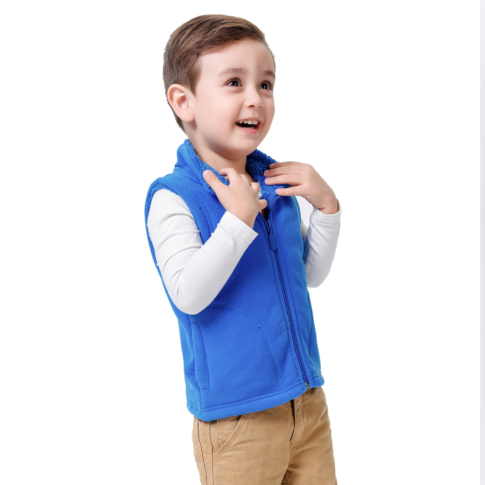 Svelte Brand Spring Autumn Winter Children Boys Girls Fur Fleece Vest Candy Color Zipper Solid Unisex Waistcoat Fur Kids Vest(China (Mainland))