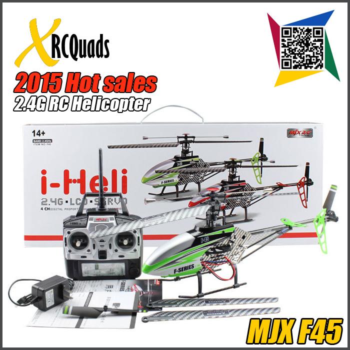 Mjx f45 grande rc elicottero senza fotocamera 2015 2.4g 4ch popolare giocattoli di telecomando può aggiornato brushless motor system vs f46(China (Mainland))