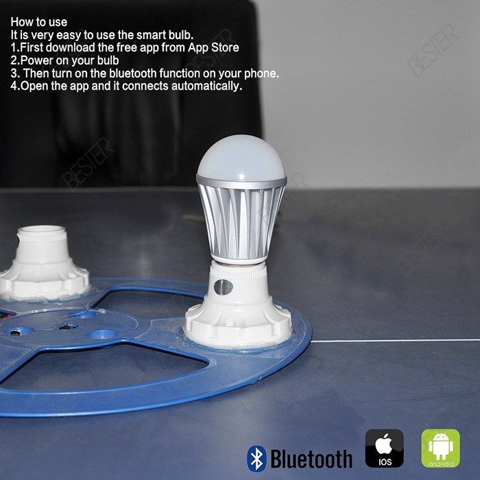 bluetooth smart light lamp 3