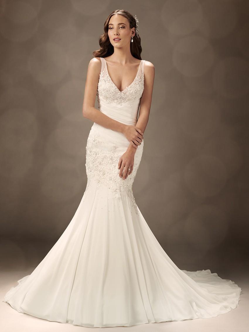 Hot sale design backless v neckline sleeveless plus size for Mermaid wedding dresses on sale