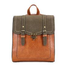 Mulheres do vintage mochila de alta qualidade marca couro feminino preto bolsa ombro senhora multifuncional mochila sacos escola quente xa216h(China)