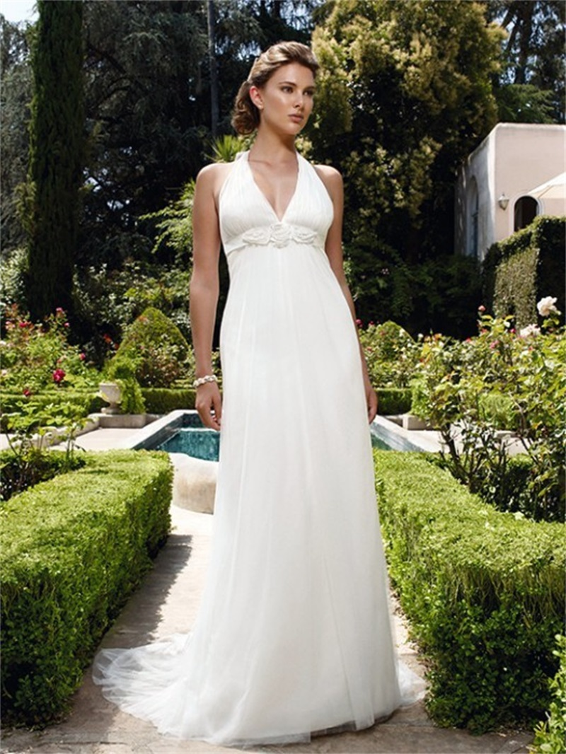 fast shipping halter neck maternity wedding dress 2015