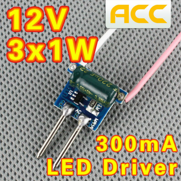 3X1W LED Driver MR16 Lamp LED high Supply Power lamp bead Transformador 12V arduino uno(China (Mainland))