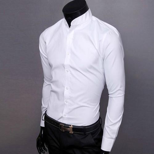 Mandarin Collar Dress Shirt Images