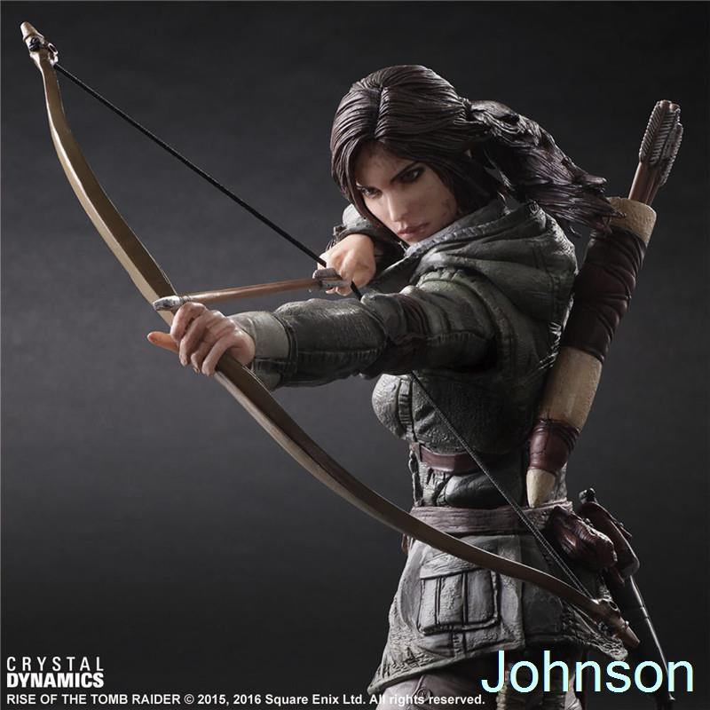 26cm Laura Tomb Raider: Definitive Edition One Action Figure Model Movie Anime POP Toys(China (Mainland))