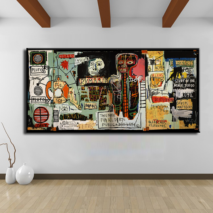 Cuadros Decoracion Painting Notary Jean Michel Basquiat -neo-expressionism For Graffiti Art Print On Canvas For Home Decoration(China (Mainland))