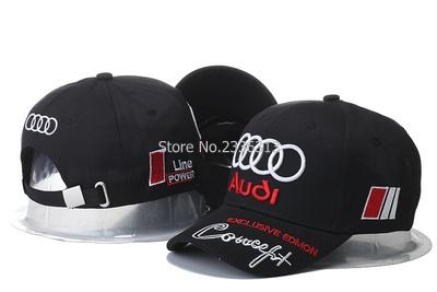 3 colours fashion F1 race cars cap Audi baseball cap hip-hop hats sun visor caps(China (Mainland))
