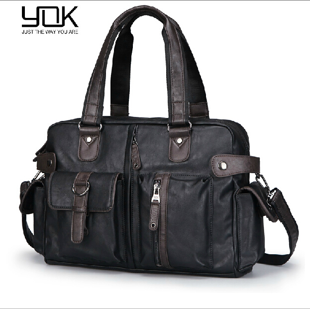 Free Shipping 2015 New Fashion Leather Handbags for Men Famous Brand Mens Shoulder Messenger Bag Briefcase Portfolio MB00032<br><br>Aliexpress