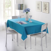 SunnyRain 1-Piece Solid Color Tablecloth For Dining Table Cloth Rectangle Table Linen Table Cover For Tea Table(China (Mainland))