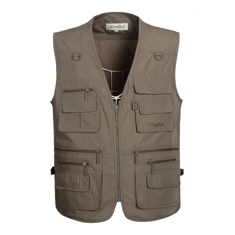2015 Summer New Men Pockets Jacket Outdoors Travels Sports Vest Tops Mesh Fishing Vest 4XL 5XL Photographer Vests Free Shipping(China (Mainland))
