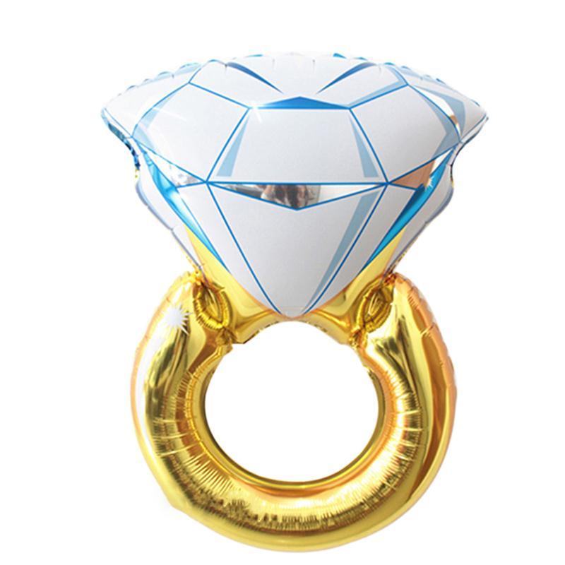 Diamond Ring Balloon Romantic Wedding Bridal Shower Anniversary, Engagement Party Decoration(China (Mainland))