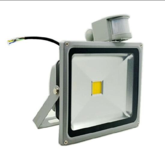 Ultrathin LED Flood Light 10W 20W 30W 50W 85-265V PIR Motion Sensor Outdoor Lighting Waterproof IP65 Induction Projector Lamp(China (Mainland))