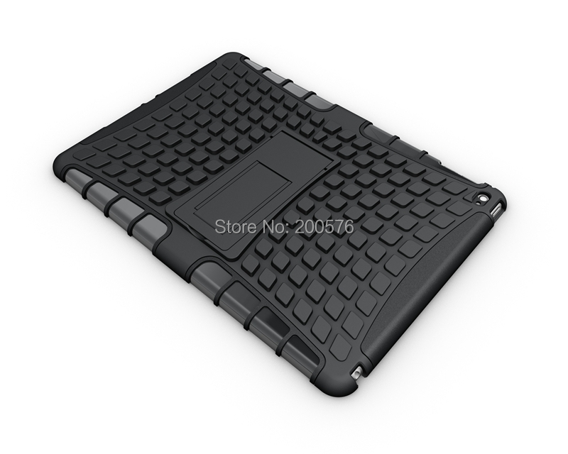 Heavy Duty TPU PC Dual Armor case For iPad air 2 case with stand For iPad