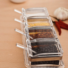 4pcs Herb Spice Jar Cruet Set Condiment Seasoning Containers Storage Dispensers Salt and Pepper Canisters(China (Mainland))