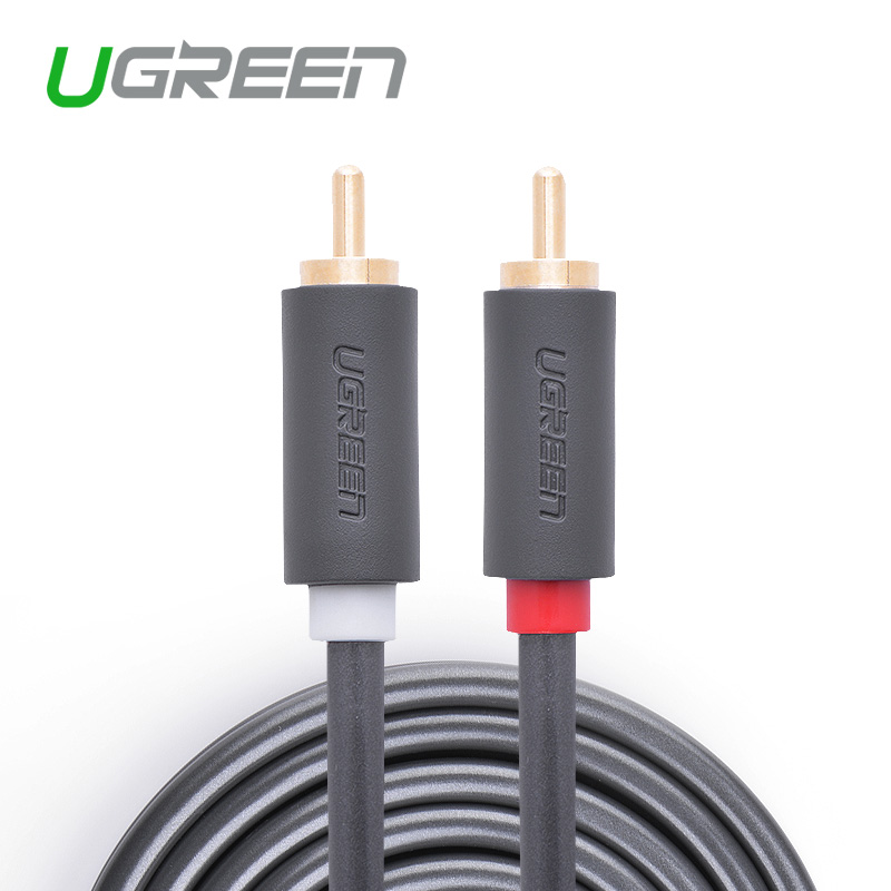 Ugreen rca jack audio cables male to male rca aux cable 1.5m 2m 3m 5m rca cable for Laptop TV DVD amplifier(China (Mainland))