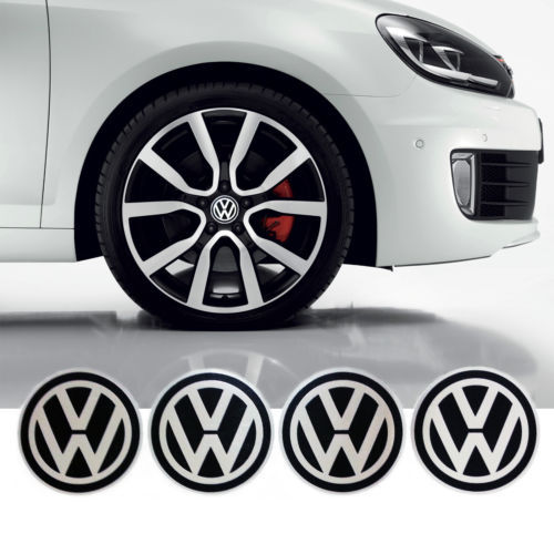4pcs/lot VW Volkswagen Wheel Center Caps Sticker Emblem Logo 55mm Diameter Cheap Price(China (Mainland))