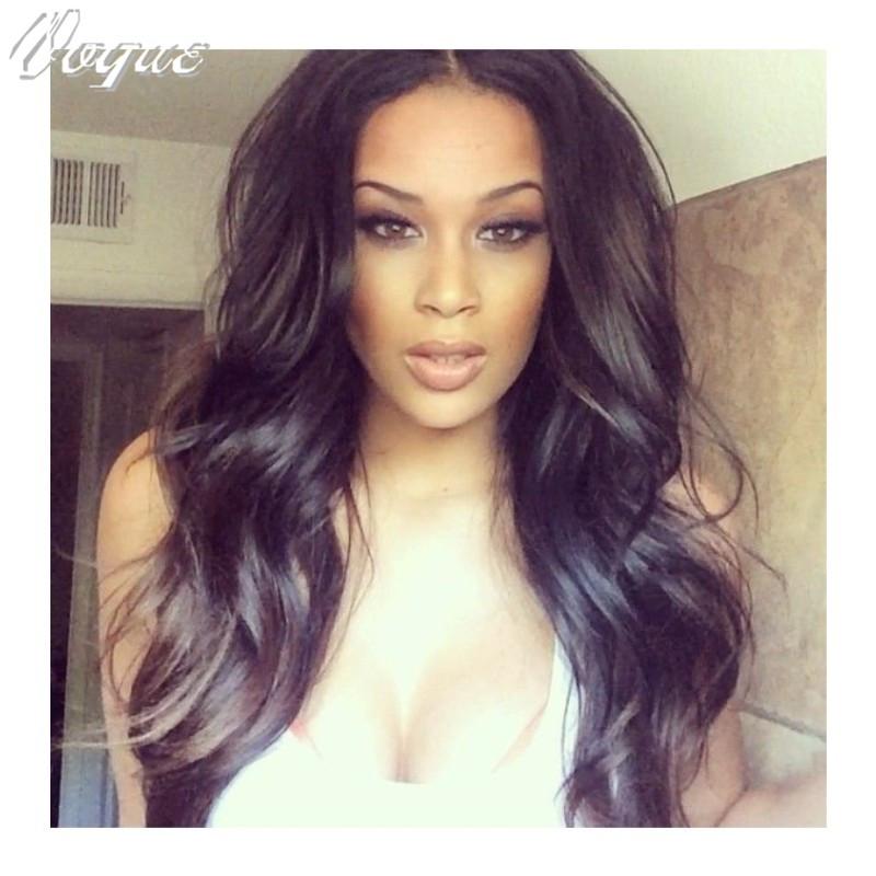 Stock Soft Generous Body Wave U Part Wig Peruvian Virgin Human Hair part Wigs Black Women Side / Middle - Vogue store