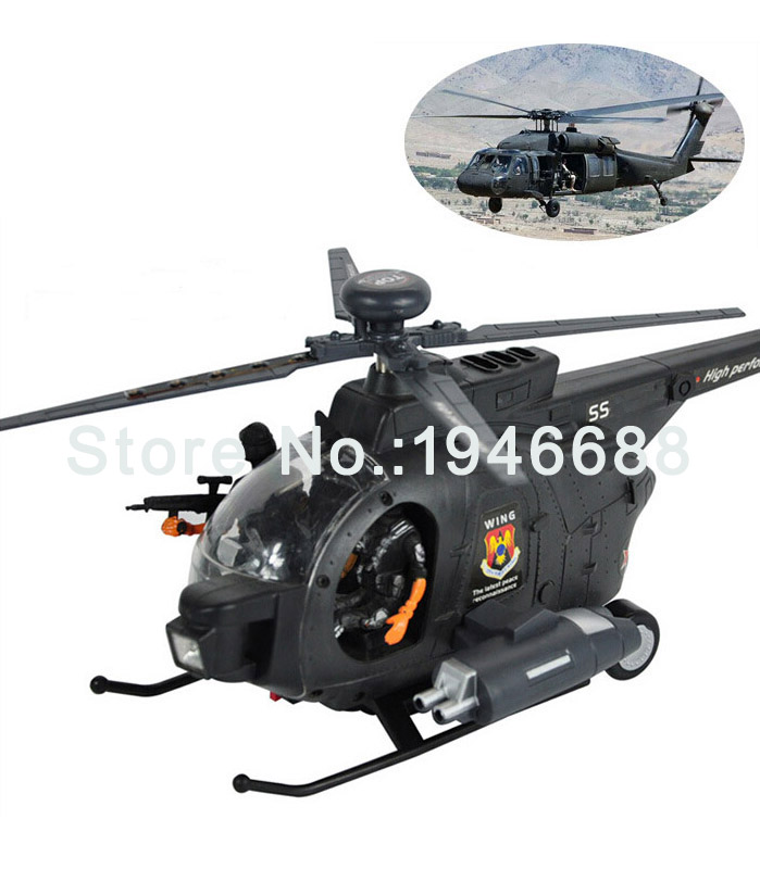 HaBiBi Battery Powered Model Military Airplanes 3D Bump And Go B/O Helicopter Toys Plane Flying Toys With Light Music(China (Mainland))