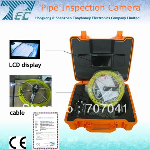 Video Pipe Sewer Inspection with 40m Cable, ABS box,512hz Tansmitter and 512hz Locator TEC-Z710DLK(China (Mainland))