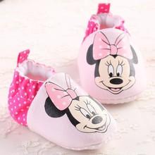Infant Fashion New Cute Girls Cartoon Minnie Princess Shoe First Walkers Toddler Baby Shoes Newborn Crib Shoes 0-14M Prewalker