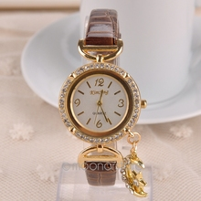 Luxury Brand Watch Geneva Women watches Rhinestones Moon Pendant Watches Female Dress Quartz Wristwatch digital watch FY50MPJ632