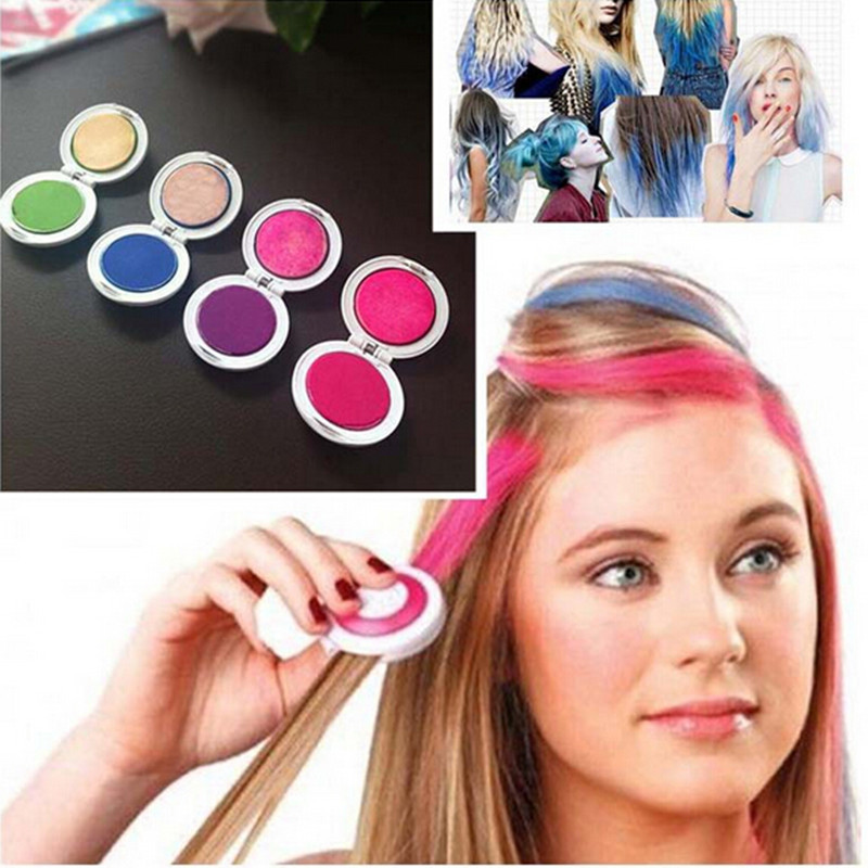 Free Shipping 4PCS/Set Hair Chalk Powder Dye Soft Pastels Salon Hair Color Crayons Fashion Christmas DIY Temporary Wash-Out(China (Mainland))