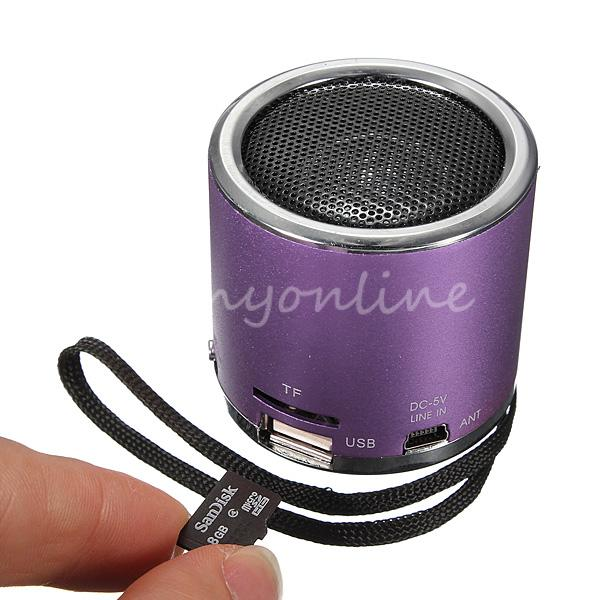 NEW Z12 Portable Mini Cylinder Speaker Amplifier Sound Radio Music FM HIFI Support USB Micro Line-in for SD TF Card MP3 Player<br><br>Aliexpress