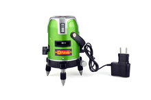 Fukuda 5 lines 1 point green laser level EK 468G leveling rotary 360 lazer levels with
