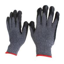 Cotton dipped coating stab gardening gloves