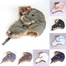 Men Women Winter Warm Trapper Bomber Aviator Trooper Earflap Snow Ski Hat Cap(China (Mainland))