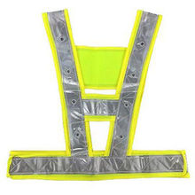 (1) Green LED Reflective Vests Road Construction Safety Clothing Protective Suit LXM(China (Mainland))