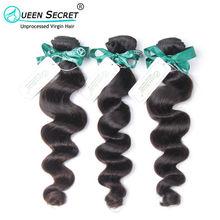 Queen Secret Most Popular 100% Peruvian loose wave human hair 1pc a lot top grade 6A good quality Peruvian virgin hair