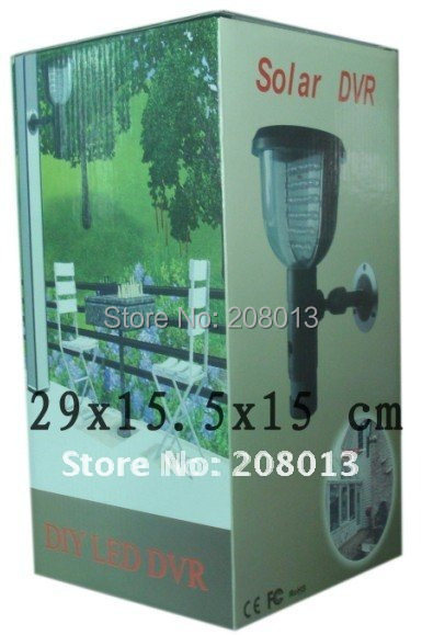 Discout product free shipping promotion DIY FIR motion detection LED light Solar DVR(China (Mainland))