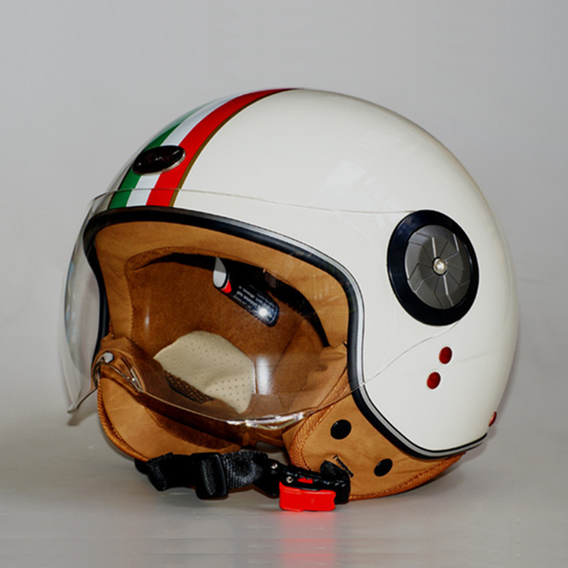 Fashion brand Beon helmets vintage Motorcycle helmet Scooter Open face helmet unisex Moto 3/4 capacete B-110 Italy Flag helmet(China (Mainland))