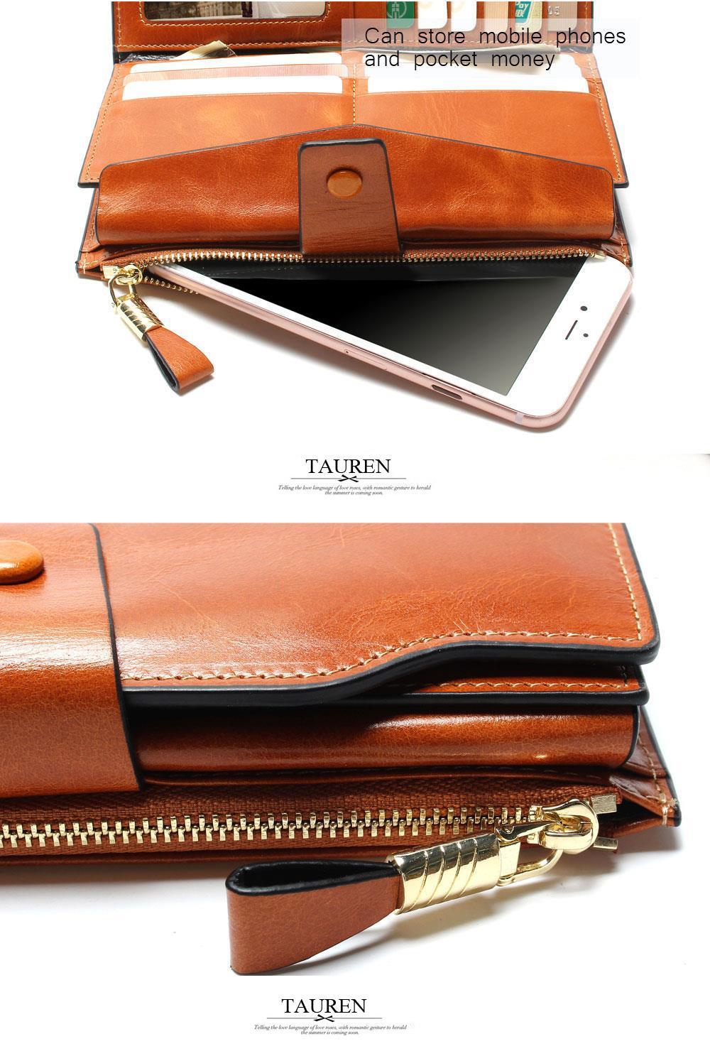 HTB1psrIOVXXXXcRaXXXq6xXFXXXv - 2018 New Design Fashion Multifunctional Purse Genuine Leather Wallet Women Long Style Cowhide Purse Wholesale And Retail Bag