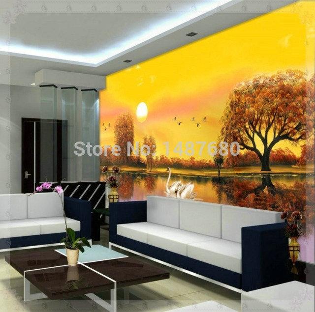 Personalizado mural moderno papel de parede 3d for Mural pared personalizado