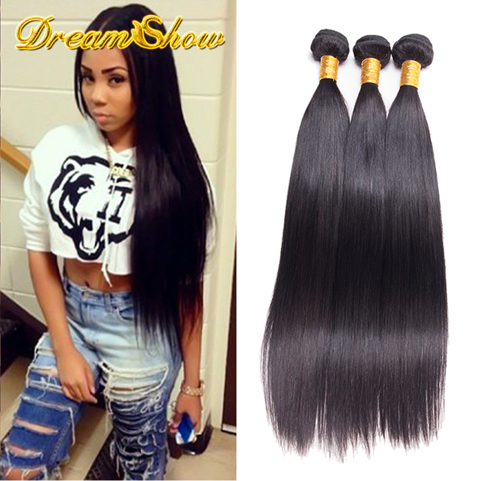 Malaysian Virgin Hair Straight 3pcs Lot 100% Unprocessed Malaysian Straight Hair Weaves Cheap Malaysian Virgin Hair Bundle Deals