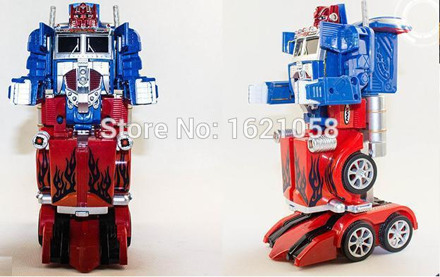 2015 Toy Cars Remote Control Deformation Toys Robot Rc Car Deform Optimus Prime Brinquedos Kids Great Quality Gift