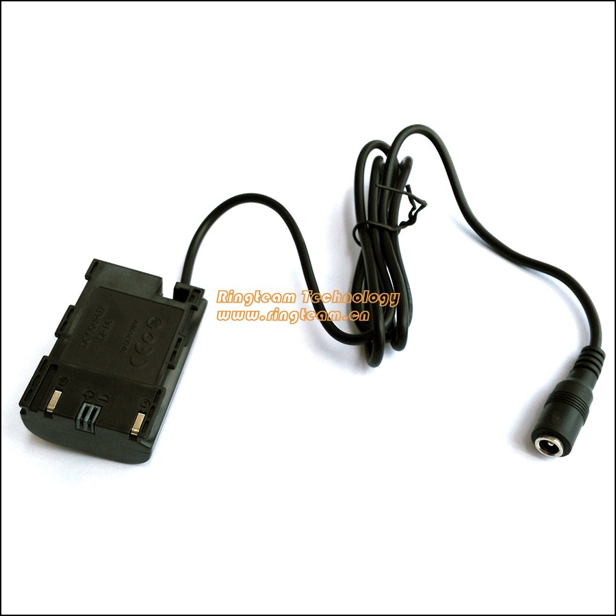 Fake Battery LP-E6 DC Coupler DR-E6 DRE6 Power Supply Connector for Canon EOS 5D Mark II III 5D2 5D3 6D 7D 60D SLR Camera(China (Mainland))