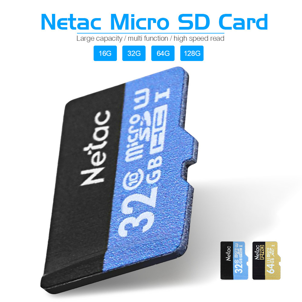 Original Netac Micro SD Card Class 10 16GB 32GB 64GB 128GB UHS-I Flash Memory Card Microsd Card for Smartphone Camera MP3 Player(China (Mainland))