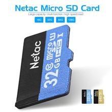 Original Netac Micro SD Card Class 10 16GB 32GB 64GB 128GB UHS-I Flash Memory Card Microsd Card for Smartphone Camera MP3 Player(China (Mainland))