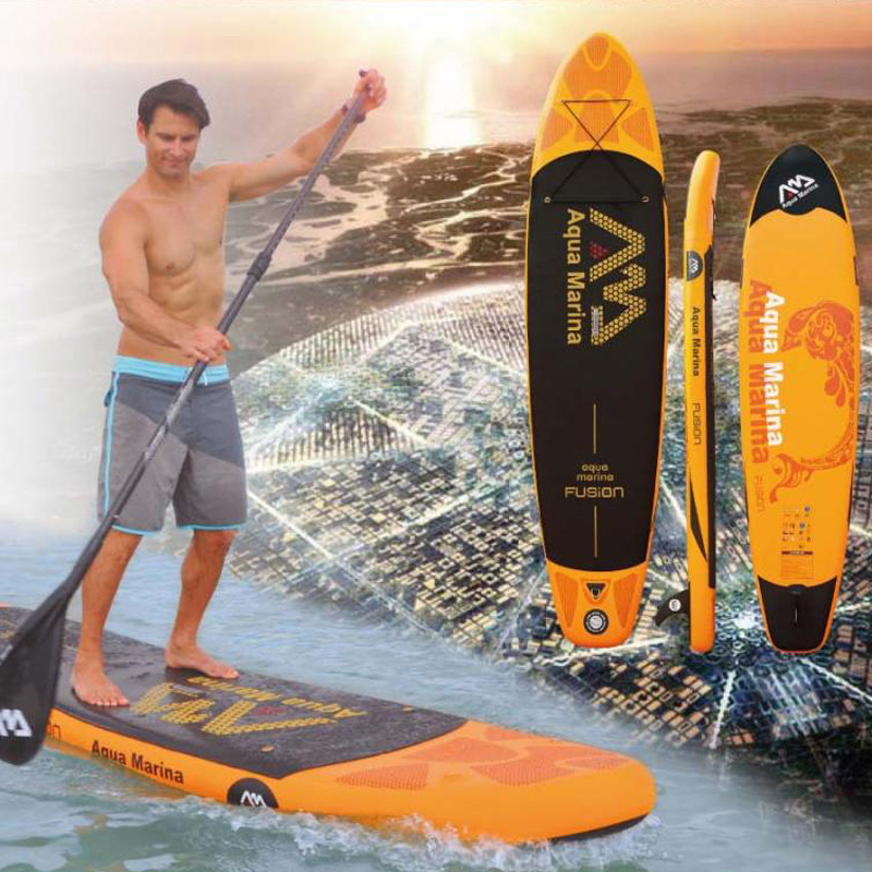 330*75*15cm inflatable surfboard stand up paddle board AQUA MARINA WATER SPORT FUSION sup board surf board bag leash paddle fin(China (Mainland))