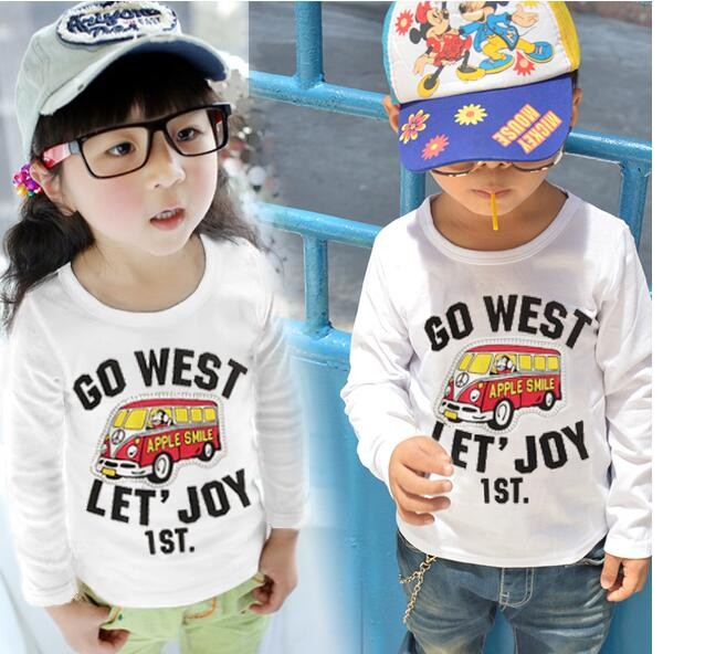 candy color Children T shirt Girls casual Blouse tops fall Autumn Turtleneck Long sleeve baby Girls T shirt kids clothes