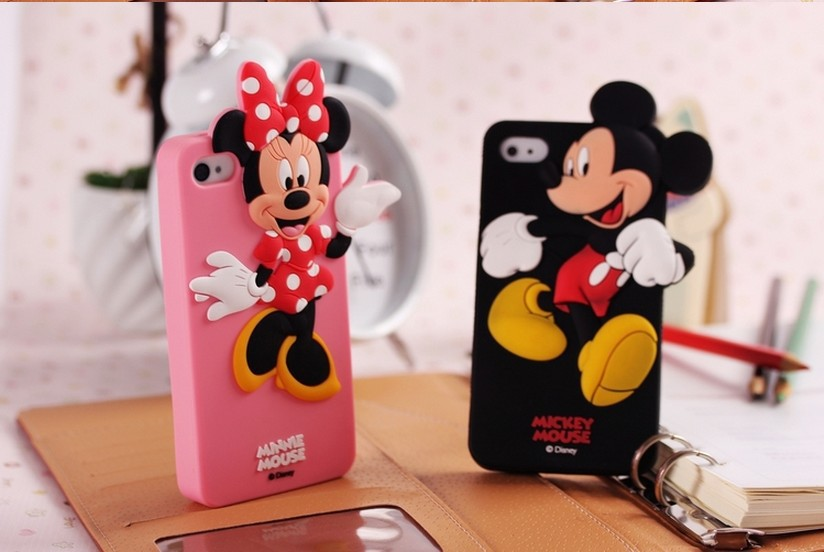 3d silicon minnie mouse mickey donald duck mobile cell phone case cover for ipone i phone 4 4s 5 - Minnie mouse mobel ...