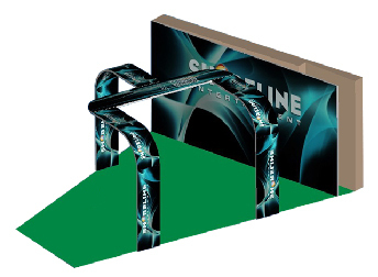 Aluminum Extrusion Exhibition booth Curved banner with backdrop SWTS01