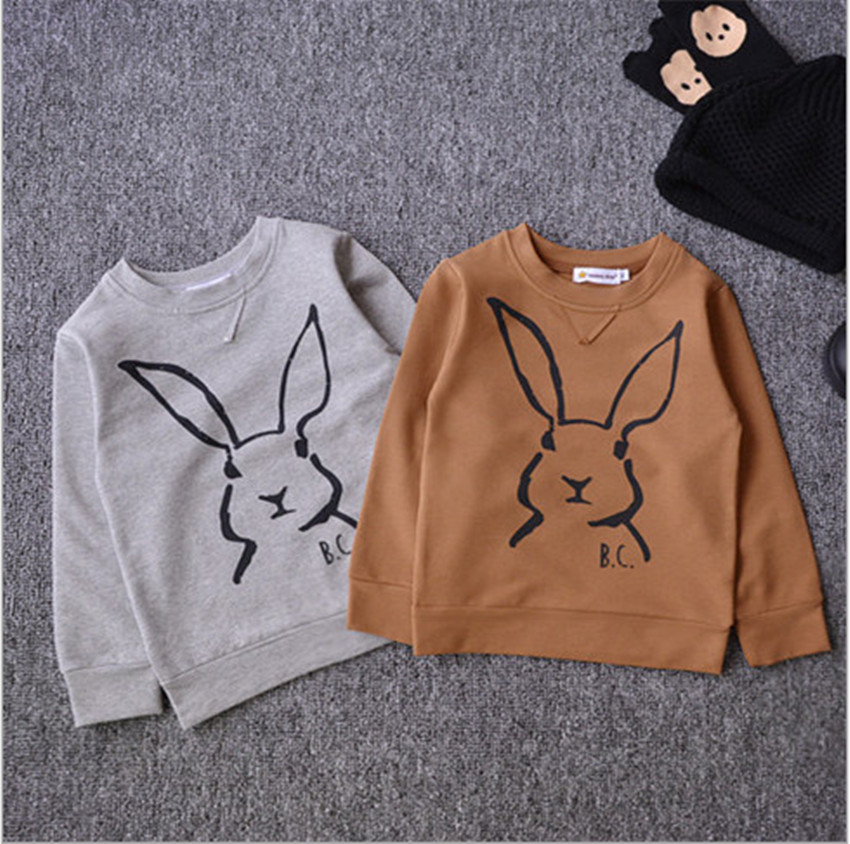 2015 Bobo Choses Baby Autumn Hoodies and Sweatshirts Robbit Printed Cotton 18m-8y Kids Sweatshirts Boys Girls Brand Hoodies FA64(China (Mainland))