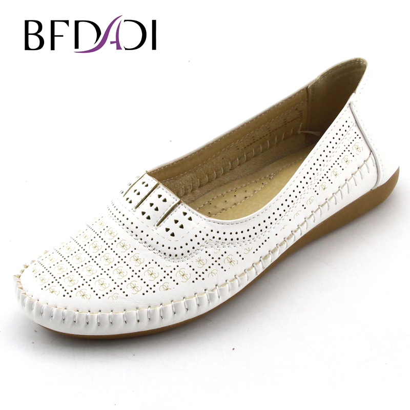 2016 Fashion Summer Flat Shoes Openwork Printing Women New Arrival Flats Casual Ladies Round Toe Flat Shoes Plus Size 42 K88-2(China (Mainland))